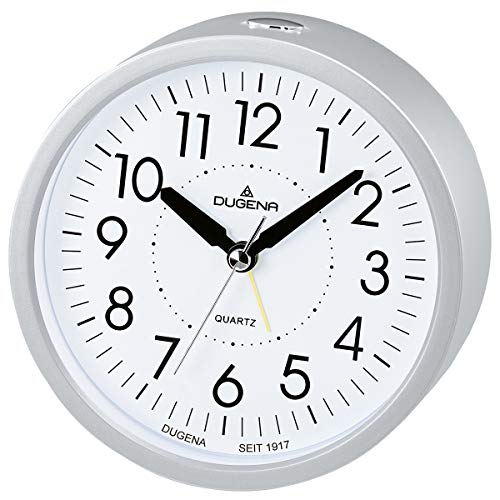 Dugena Quarzwecker Lautlose Sekunde Silber 4460807