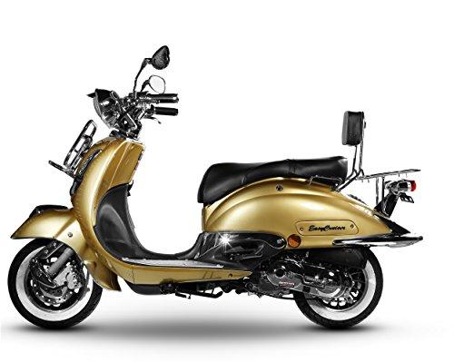 Retro Roller Motorroller Mofa EasyCruiser 49 50 ccm 45 KmH - gold BASIC