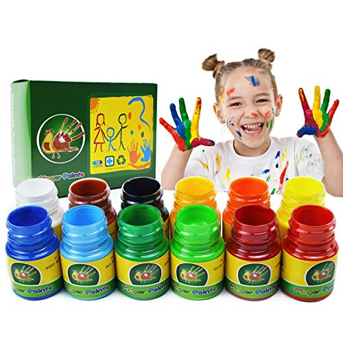 iMustech Finger Paints for Toddlers Non Toxic amp Washable12 Colors Kids Paint Set for Fun Art Supplies for PreschoolersArts amp Crafts Supplies