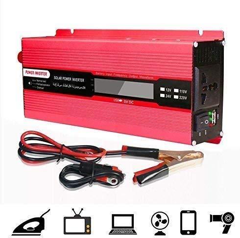 Preisvergleich Produktbild KPL Wechselrichter reiner Sinus 1000W Solar Power Inverter DC12 / 24V zu AC110 / 220V beweglichem Auto-Konverter,  mit LED-Anzeige,  USB und AC Steckdose,  220V,  24V,  110V,  24V Leistungsinverter reiner S