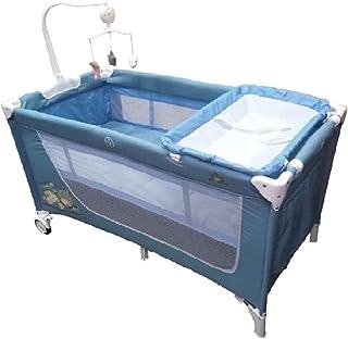 بيبي لوف سرير ومحبس دورين مع العاب للاطفال، ازرق
