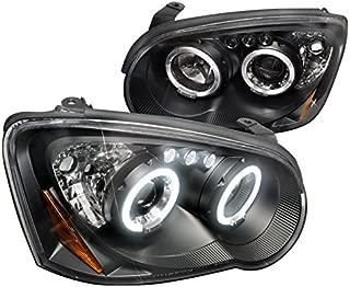 Spec-D Tuning 2LHP-WRX05JM-TM Subaru Impreza Halo Black Led Projector Head Lights
