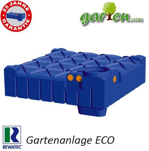 Rewatec Gartenanlage ECO F-Line Flachtank 3000 Liter