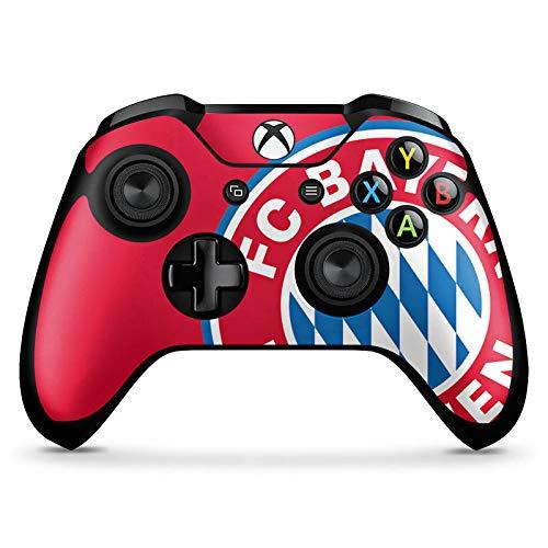 DeinDesign Skin kompatibel mit Microsoft Xbox One X Controller Folie Sticker FC Bayern München Offizielles Lizenzprodukt FCB