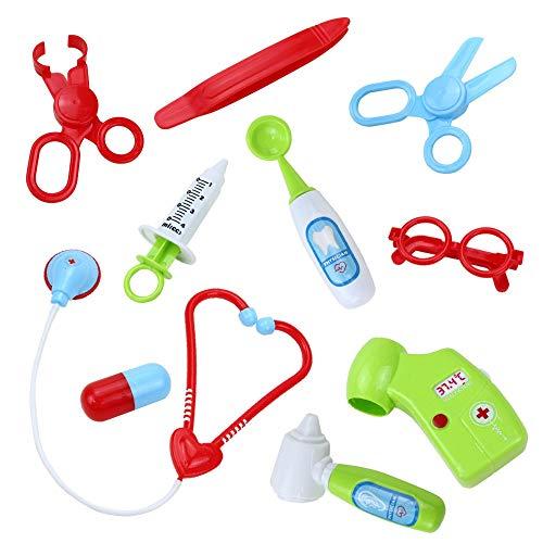 Chenzinan Rollenspel Doctor Kit for Kids fantasiespel Medische Hulpmiddelen Backpack Kit for peuters Jongens Meisjes 2 3 4 5 6 jaar oud ( Color : 1 )