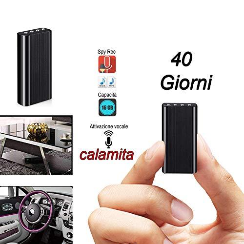 Micro registratore spia 40 giorni di autonomia audio vocale 8 GB SPY AMBIENTALE mini
