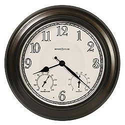 Howard Miller Briar Outdoor Oversized Wall Clock 625-676 – Oil Rubbed Bronze Finish Metal, LED Light Sensor for Illuminated Dial, Antique Home Décor, Quartz Movement