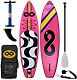 INFINITO SUP 2017 Copacabana 11' Inflatable SUP Package (11' x 33' x 6') (Hibiscus Pink)