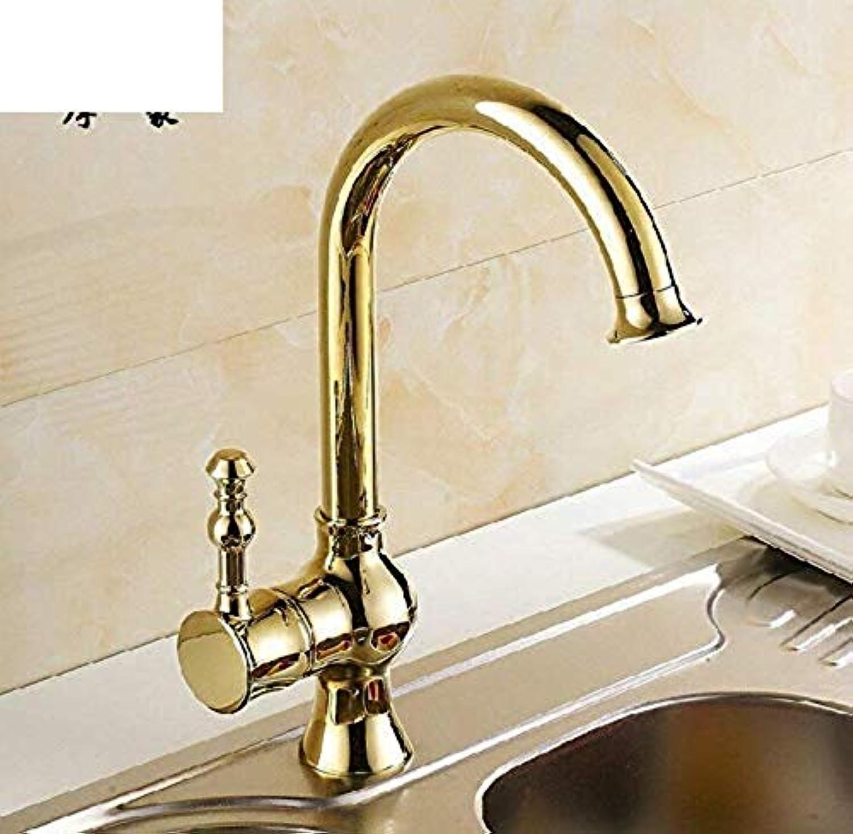 Küchenarmaturen 360 Grad drehbare Wasserhahncontinental Jinse Küchenhahn Alle Kupfer Einloch