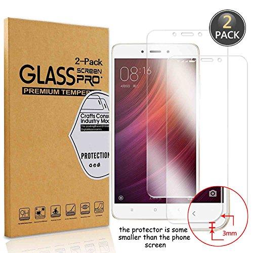 [2 Pack] Owbb Pellicola Vetro Temperato Per Xiaomi Redmi Note 4 / Note 4X, Glass Screen Pellicola Protettiva 9H Durezza 99% Alta trasparente 0.26mm 3D Touch Compatibile Per Xiaomi Redmi Note4