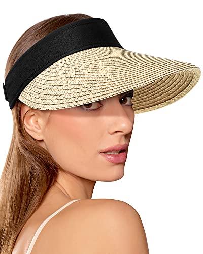 (50% OFF) Ladies Straw Sun Visor $6.99 – Coupon Code