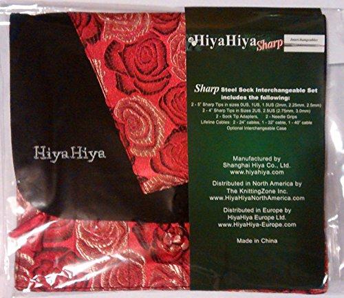HiyaHiya Steel Interchangeable Circular Needles Sock Set
