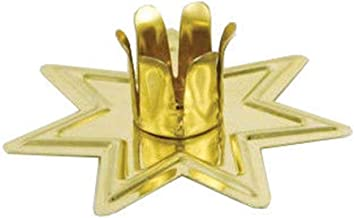 """Anya Nana Gold Fairy Star Chime Candle Metal Holder for 4"""" Mini Taper Spell Candles Altar or Home."""