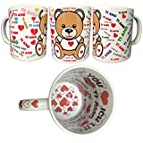 BrolloGroup Tazza Ceramica Ti Amo I Love You Doppia Stampa Idea Regalo San Valentino PS 10548-0001 (Default)