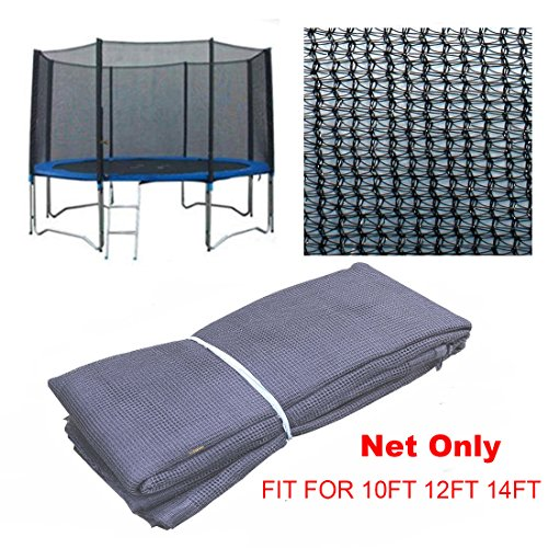Saving Plus 8FT 10FT 12FT 14FT REPLACEMENT TRAMPOLINE SAFETY NET ONLY ENCLOSURE SURROUND (14FT FOR 8POLES)