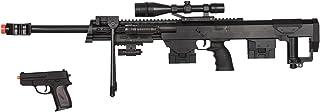 50 Cal Sniper Spring Airsoft Rifle & Pistol Combo Gun Set FPS 260