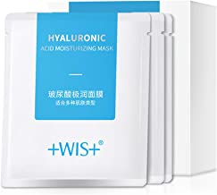 WIS Hyaluronic Acid Moisturizing Face Facial Mask Sheet,Hydrating Dry Skin,Anti-Aging,Anti-Wrinkle,24 Combo Pack