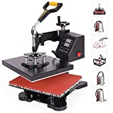 Z ZELUS Heat Press Machine 30 X 22m 8 in 1 Multifunctional Heat Press 360 Degree Swivel Heat Press Machine for...