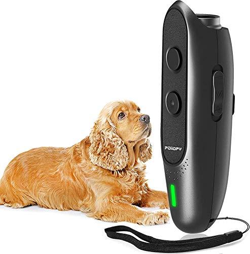 Dispositivo antiladridos para perros con frecuencia variable ultrasónica de corteza de perro, 2 en 1, dispositivo de control de ladridos de perros, herramienta de entrenamiento manual para perros