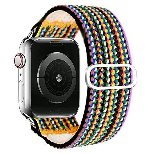 De Galen Correa de goma para reloj Apple de 40 mm, 4 mm, 4 mm, correa elástica bohemia, correa de reloj para iWatch Series 3, 4, 5, se 6, 38 mm, 42 mm
