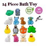 CocoRio Chu Chu Bath Toys for Baby Non-Toxic Toddler Set Multi-Colour 14 Pieces