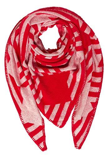 Street One Damen Schal mit Grafik-Print burning red A