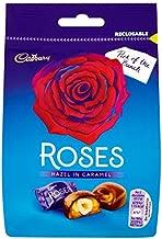 Cadbury Roses Hazelnut Caramel Pouch- 92g Each (Box of 10)