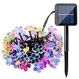 Solar String Lights, 60 LED Blossom Solar Powered...