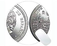 ゲーミングラウンドマウスパッドカスタム、お金コイン紙幣ラバーラウンドマウスパッド