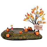 Enesco Village Collection Accessories Halloween Pumpkin Patch Animated Figurine Set, 7.5 Inch, Multicolor