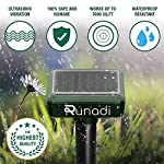 RUNADI Mole Repellent - 2 Packs - Outdoor Sonic Insect Deterrent - Solar Powered Mole Remover for Mole, Snake, Vole…