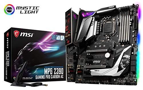MSI MPG Z390 Gaming PRO Carbon AC LGA1151 (Intel 8th and 9th Gen) M.2 USB 3.1 Gen 2 DDR4 HDMI DP Wi-Fi SLI CFX ATX Z390 Gaming Motherboard (Renewed)