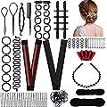 fani Hair Styling Tools Set, Hair Braiding Tools Bun Maker Hair Accessories DIY Ponytail Braid Twist Magic Tools for Women Hair Styles