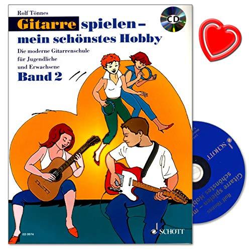 Gitarre spielen - mein schönstes Hobby Band 2 - Die moderne Gitarrenschule für Jugendliche und Erwachsene von Rolf Tönnes mit CD, Notenklammer - ED9974 9783795758455