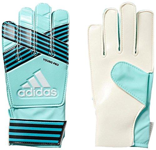 adidas - Fußball-Spielerhandschuhe für Jungen in energy aqua f17/energy blue s17/legend ink f17/Trace blue f17, Größe 8