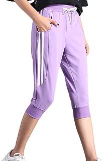 KDi Women's Shorts Jogger Sweatpants Running Trousers Tracksuit Capri Pants