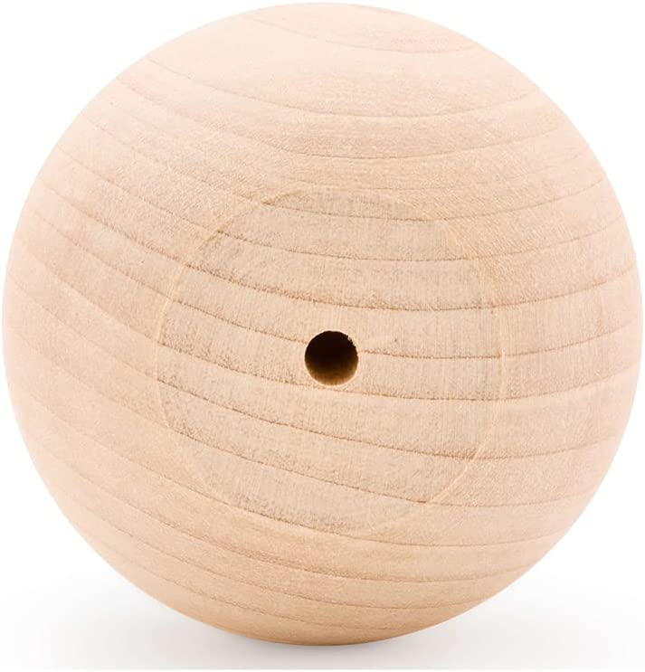Unfinished Wood Ball Knobs 2-1 inch Cabinet Limited time sale for Kitchen Max 71% OFF 2
