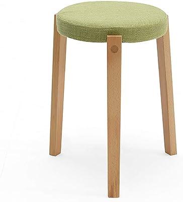 Pleasant Amazon Com Ttd Fashion Round Footstool Ottoman Linen Customarchery Wood Chair Design Ideas Customarcherynet