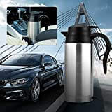 Electric Heating Kettle, 750ml 12V Car Stainless Steel Cigarette Lighter Heating Kettle Mug Electric Travel Thermoses