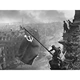 Khaldei War WWII USSR Flag Over Reichstag Photo Extra Large