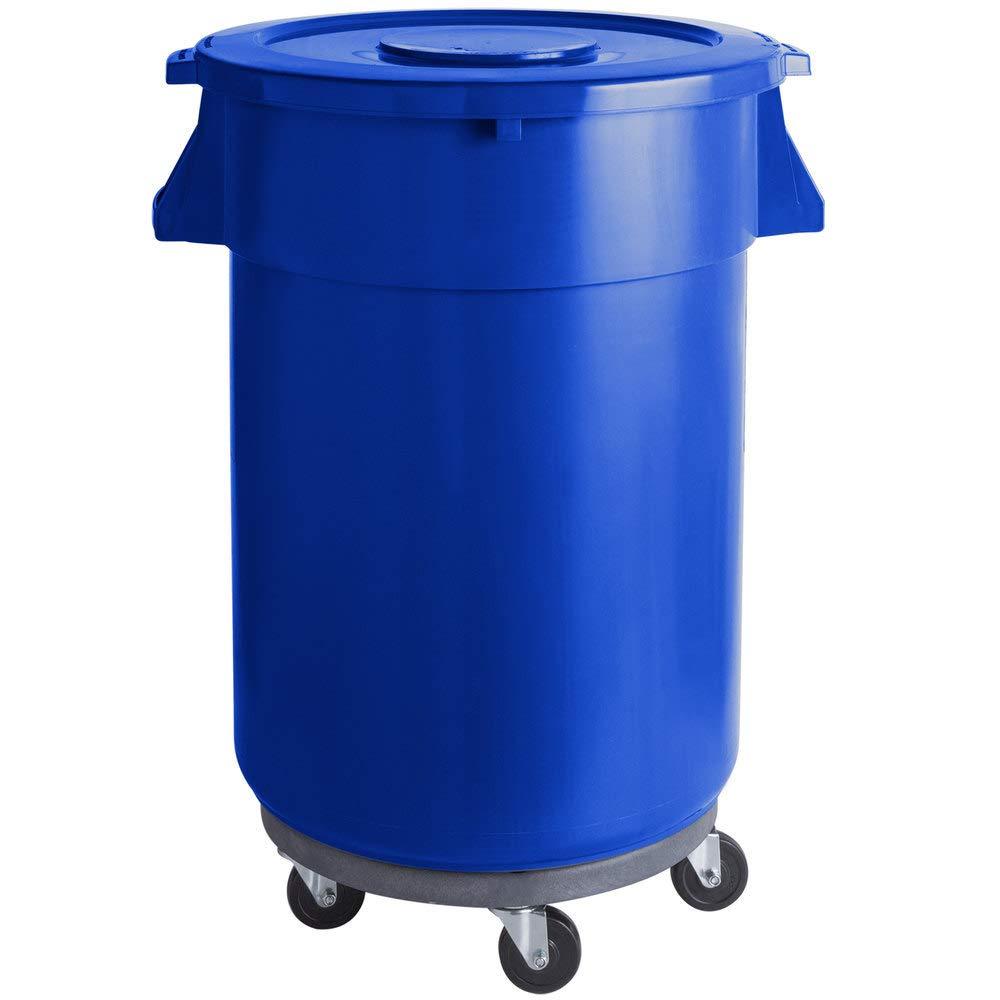 176 Qt. 44 Gallon 166 store Blue Commercial Excellent Ingredient Bin Round