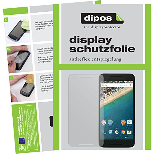 dipos I 2X Schutzfolie matt kompatibel mit LG Google Nexus 5X Folie Bildschirmschutzfolie