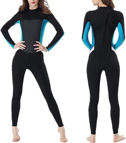 Maillot de bain une pièce à hommeches longues de sur Combinaison complète de néoprène 2mm pour femmes de qualité supérieure pour le surf, la plongée en apnée et la plongée Maillot de bain doux pour le s
