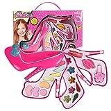 heirao4072 Girl Makeup Kit Cosmetics Makeup Box Jewelry Play House Highheeled Shoes Makeup Box Princess Makeup Toy