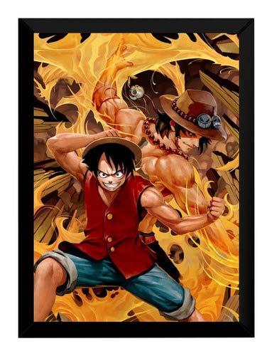 Quadro Anime One Piece Mangá Arte Poster Moldurado