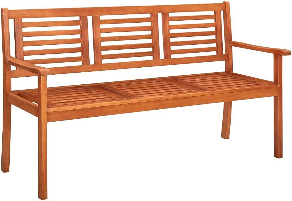 WELLIKEA 3-Seater Garden Bench 59.1