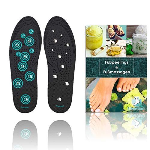 SilverRack Magnetische Einlegesohle für Frauen u. Herren (Größe 36-41) - Magnetische Schuheinlagen Einlegesohlen für Akupressur und Massage - Einlagen mit Magneten