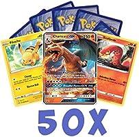50x willekeurig Pokémon kaarten inclusief 1 V / GX / EX kaart