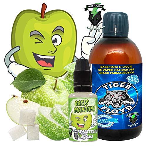 Kit Alquimia Vapeo | Oasis Manzana Aroma Concentrado + Base Vapeo - 70VG/30PG - 100 ml | Sin Nicotina: 0mg | Para Vaper Cigarrillo Electronico | Sabor Flavour