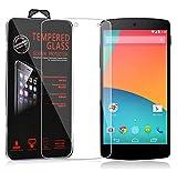 Cadorabo Película Protectora para LG Google Nexus 5 en Transparencia ELEVADA - Vidrio Templado (Tempered) Cristal Antibalas Compatible 3D con Dureza 9H